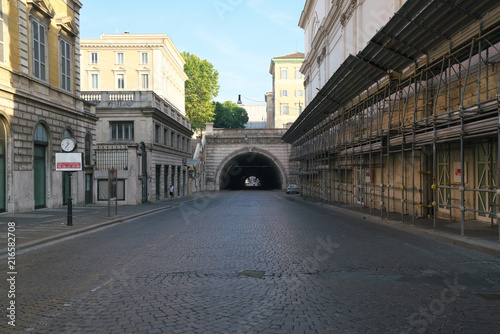 Rome,Italy-July 29,2018: Tunnel - Traforo Umberto in Rome
