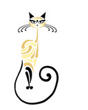 Siamese cat design. Vector illustration