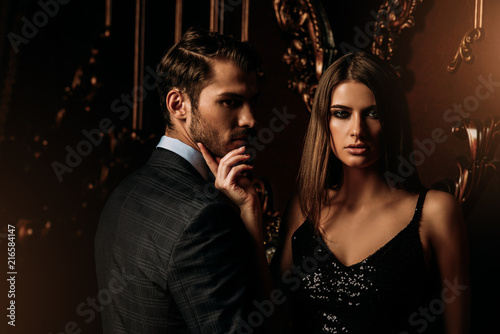 Leinwanddruck Bild handsome man and woman
