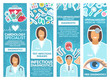 Medical clinic specialist banner with doctor, tool