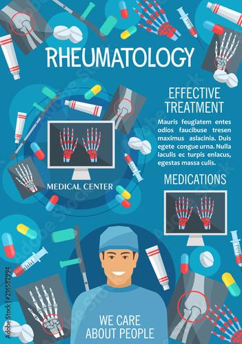 Rheumatology medical clinic or hospital banner
