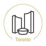 Toronto, Canada Vector Line Icon