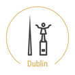 Dublin, Ireland Vector Line Icon - 216588731