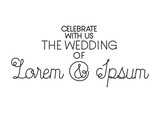 invited wedding with hand made font vector illustration design