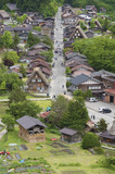Historical village Shirakawa-go. Shirakawa-go is one of Japan's UNESCO World Heritage Sites located in Gifu Prefecture, Japan. - 216599376