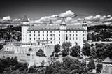 Bratislava castle in capital city of Slovakia, colorless