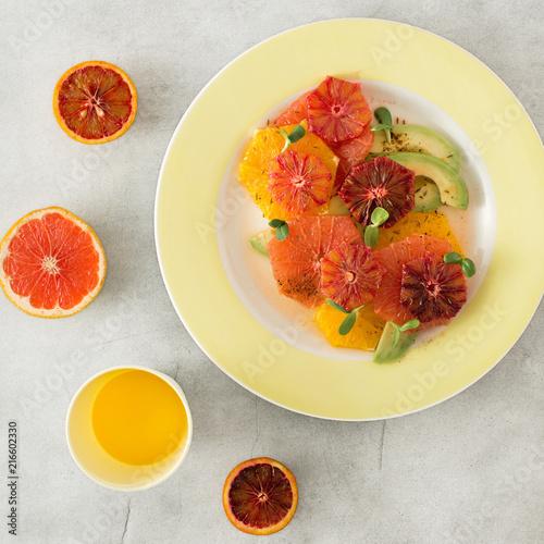 Foto Murales Healthy and dietary food Healthy summer fruit salad