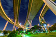 uprisen angle view of expressway in night time