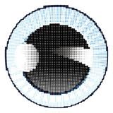 Blue iris halftone - 216610724