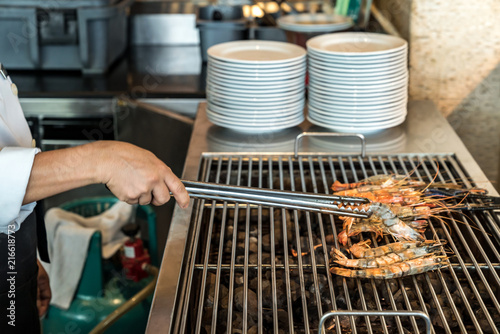 Poster Chef Grilled Prawn