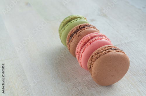 Foto Spatwand Macarons A row of delicious macarons