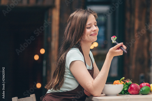Attractive woman in the kitchen - 216620542