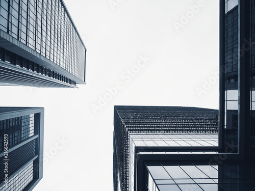 Architecture perspective Modern Building Glass facade Business Background - 216642593