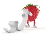 Raspberry character reading a long list