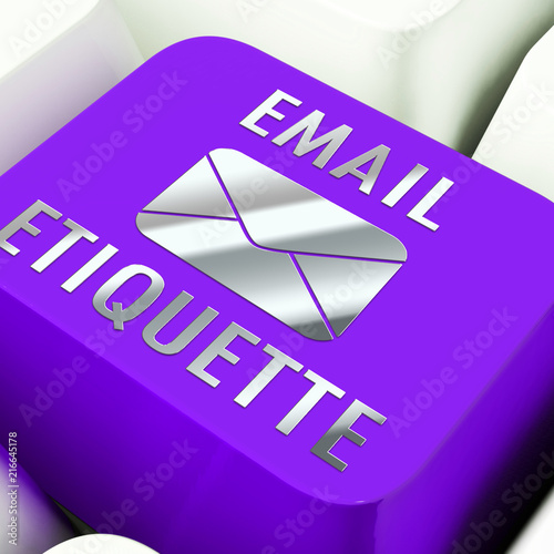 Email Etiquette Electronic Message Rules 3d Rendering