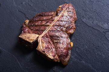 Grilled beef porterhouse steak
