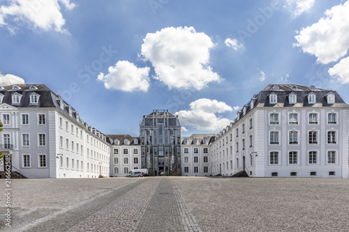 panoramic outside view to  castle in Saarbruecken