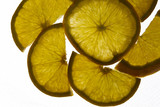 Glowing citric fruit photographed with back light to make it pop
