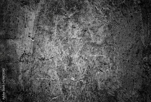 In de dag Betonbehang Dark concrete wall background texture