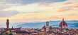 Quadro Skyline of ancient city of Florence, Italy.