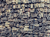 metal letters background - 216678945