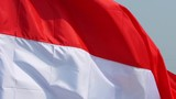 Slow motion of Indonesia country flag waving outdoor as a symbol of freedom and independence day - 216682599