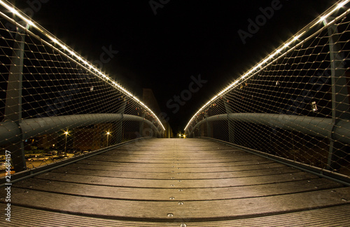 Wall mural Nightshift Brücke