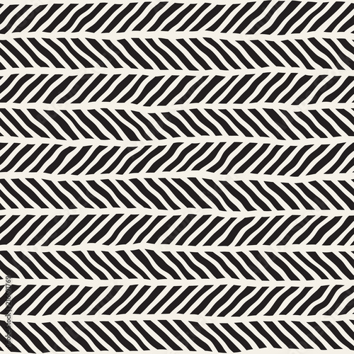 Simple ink geometric pattern. Monochrome black and white strokes background. Hand drawn ink texture for your design.. - 216691769