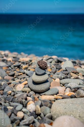 Plexiglas Zen Stenen Balanced stones