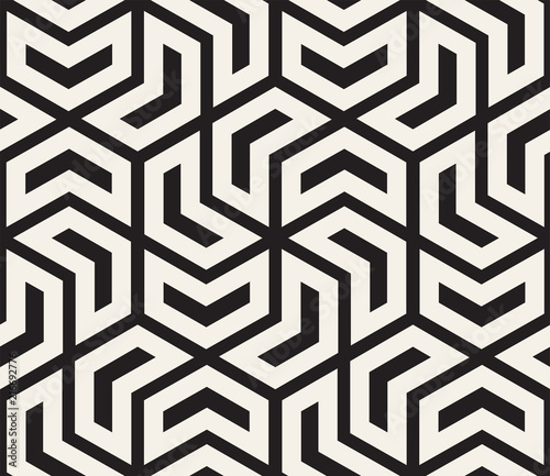 Vector seamless pattern. Modern stylish abstract texture. Repeating geometric tiles - 216692776