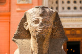 Small sphinx statue near Egyptian Museum