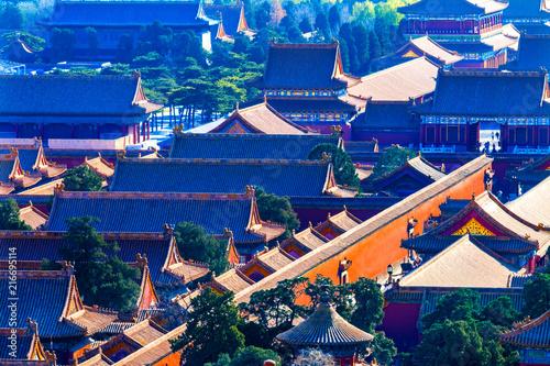 Plexiglas Peking Yellow Roofs Forbidden City Beijing China