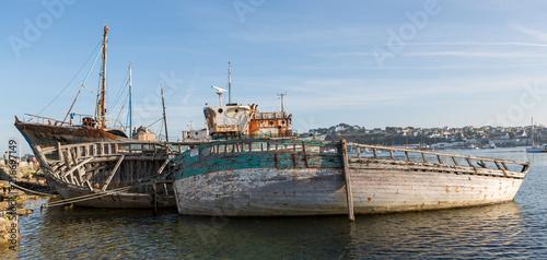 In de dag Schip Cimetière de bateaux Camaret