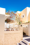 typical architecture of houses on the island of Santorini in Greece in the Cyclades - 216697921