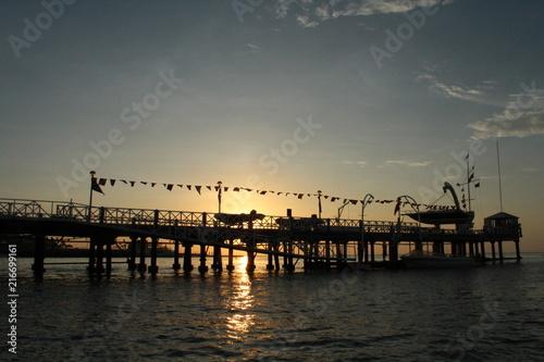 Fotobehang Zee zonsondergang atardecer