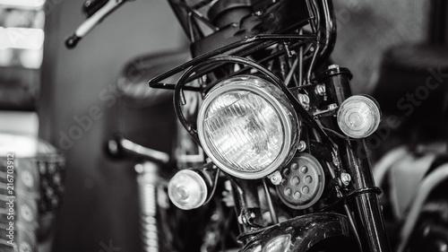 In de dag Fiets Vintage Motorcycle Headlight