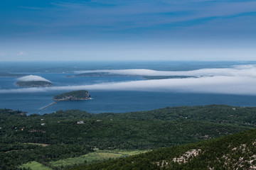 Foggy day from top of Cadillac Mountain, Maine,USA © Skyler