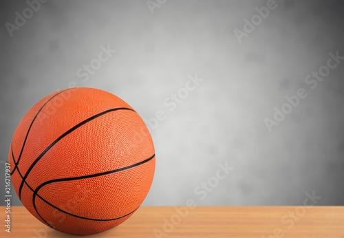 Foto Spatwand Basketbal Orange Basketball ball on gray background