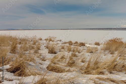 Fotobehang Donkergrijs Great Salt Lake Landscapes