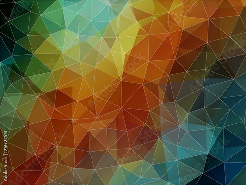 Foto Spatwand Geometrische Achtergrond Colorful geometric background with triangles