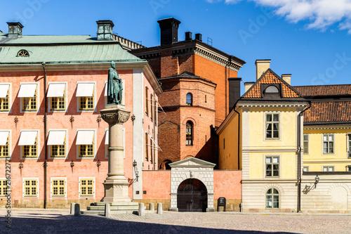 Foto Spatwand Stockholm Historical buildings of Stenbock Palaces, Stockholm, Sweden