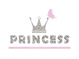 Princess. For birthday, baby shower, clothes and posters design. Vector