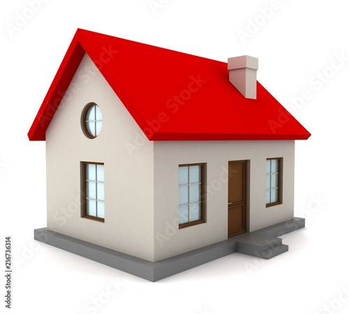 house single 3d illustration isolated