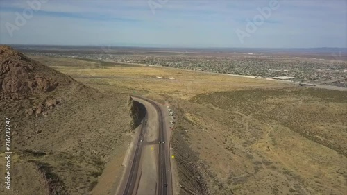 This footage shows the beautiful view in Trans Mountain in El Paso TX