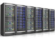 Leinwanddruck Bild - network workstation servers 3d illustration
