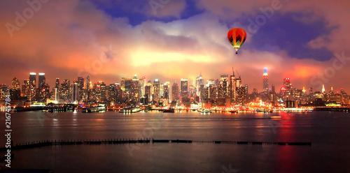 Sticker Manhattan downtown skyline