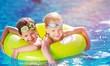 Quadro Children playing in pool