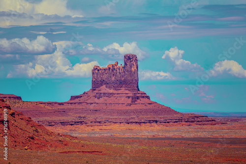 Canvas Diepbruine Monument Valley