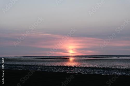 Fotobehang Zee zonsondergang sunset sea orange