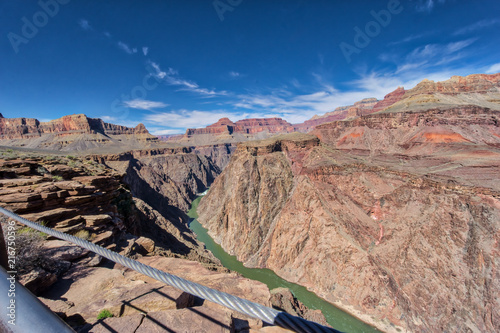 Foto Spatwand Zalm AMAZING view of the Grand Canyon National Park from the bottom looking up and viceversa